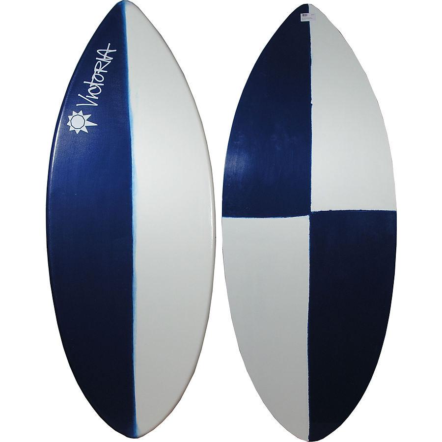 Victoria Skimboards Poly E Glass Navy White XLarge Skimboard