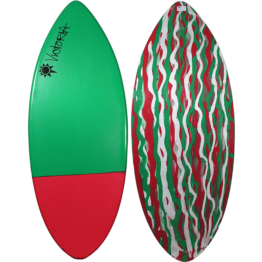 Victoria Skimboards Ultra Green Red Tail Large Skimboard
