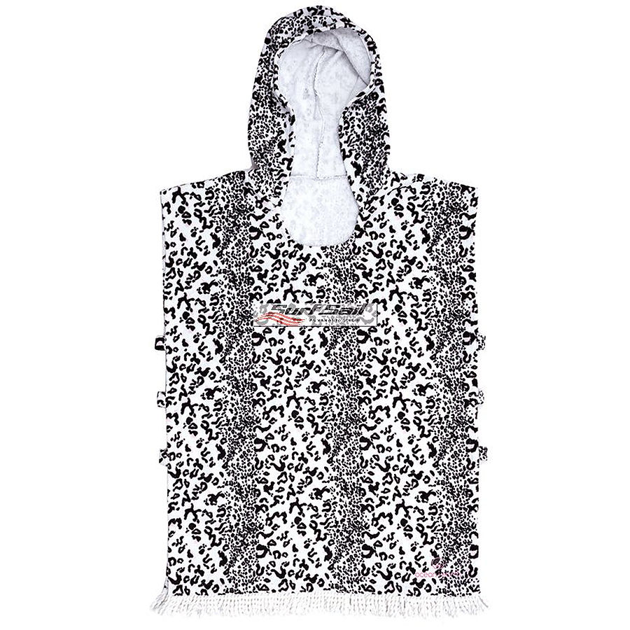 Ocean and Earth Ladies Summer Fling Hooded Poncho White