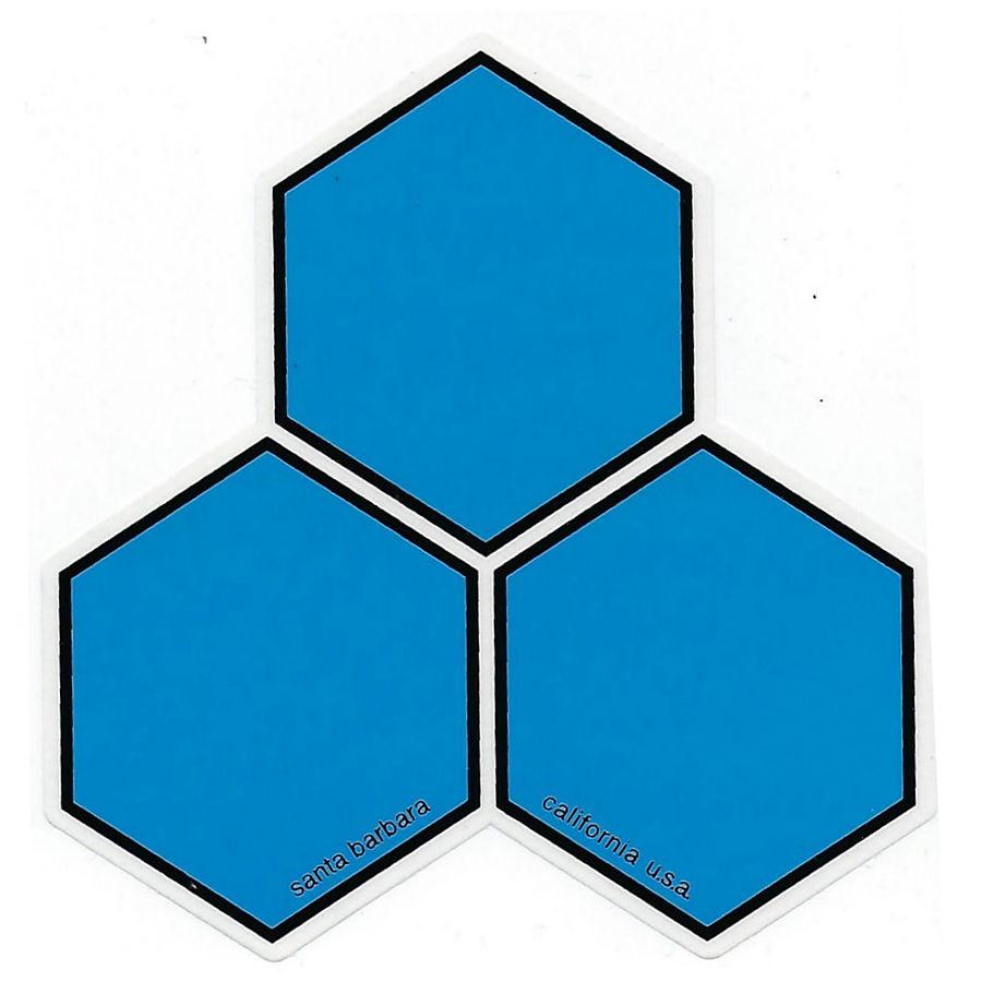 Chanel Islands Curren Hex Sticker Large Blue