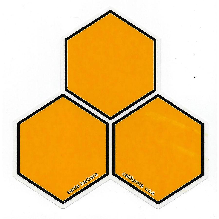 Chanel Islands Curren Hex Sticker Large Yellow