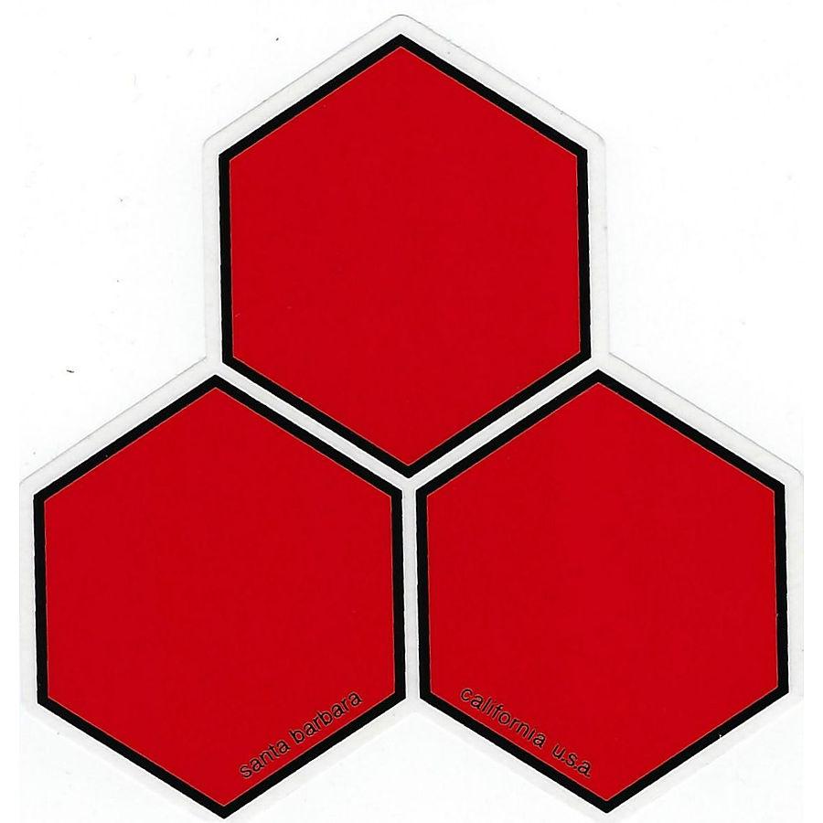 Chanel Islands Curren Hex Sticker Large Red