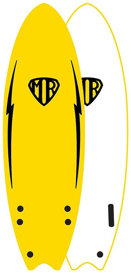 Ocean and Earth MR Easy Rider Twin Softboard Yellow 6ft - Image 1