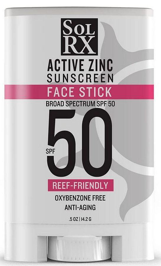 SolRx SPF 50 Zinc Sunscreen Face Stick