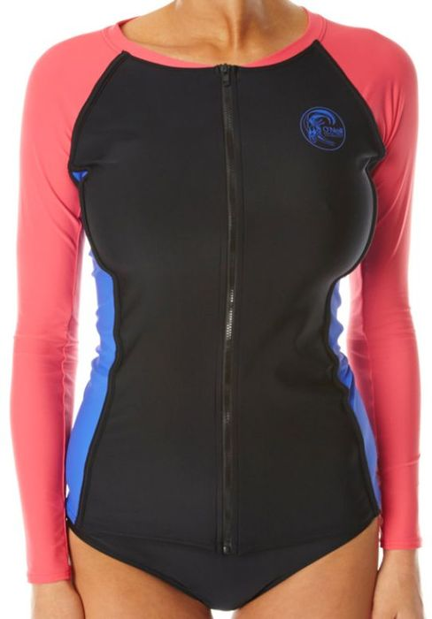 Oneill Originals LS Zip Through Ladies Rash Vest