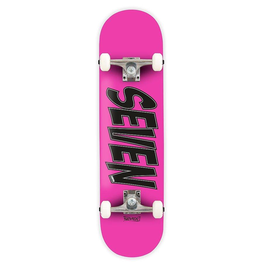 Seven Skates Complete Essential Logo Pink Skateboard