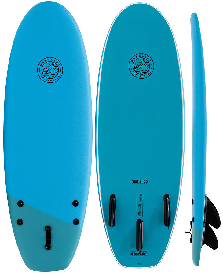 Gnaraloo Dune Buggy Blue Blue Soft Surfboard 4 ft 10 inches