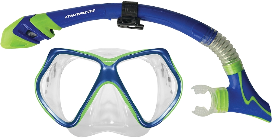 Surf Sail Australia Bermuda Dry Silicone Mask and Snorkel Set Blue