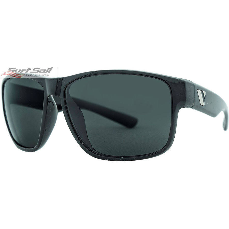 Venture Eyewear Summit Gloss Black Smoke Polarised Sunglasses