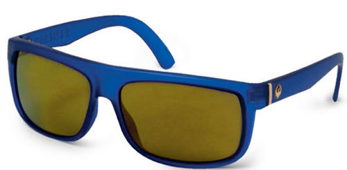 Dragon Wormser Matte Blue Gold Ionized Sunglasses - Image 1
