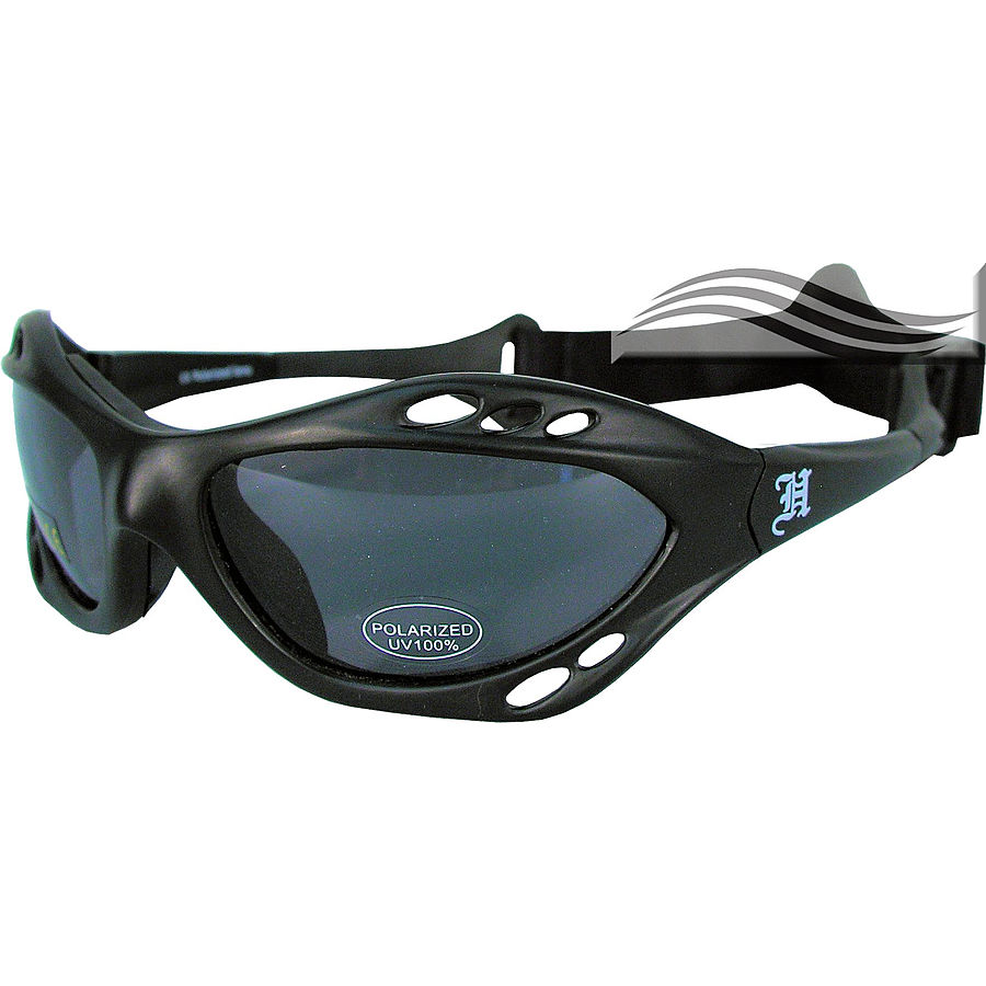Surf Sail Australia Matt Black Smoke Polarised Sports Sunglasses