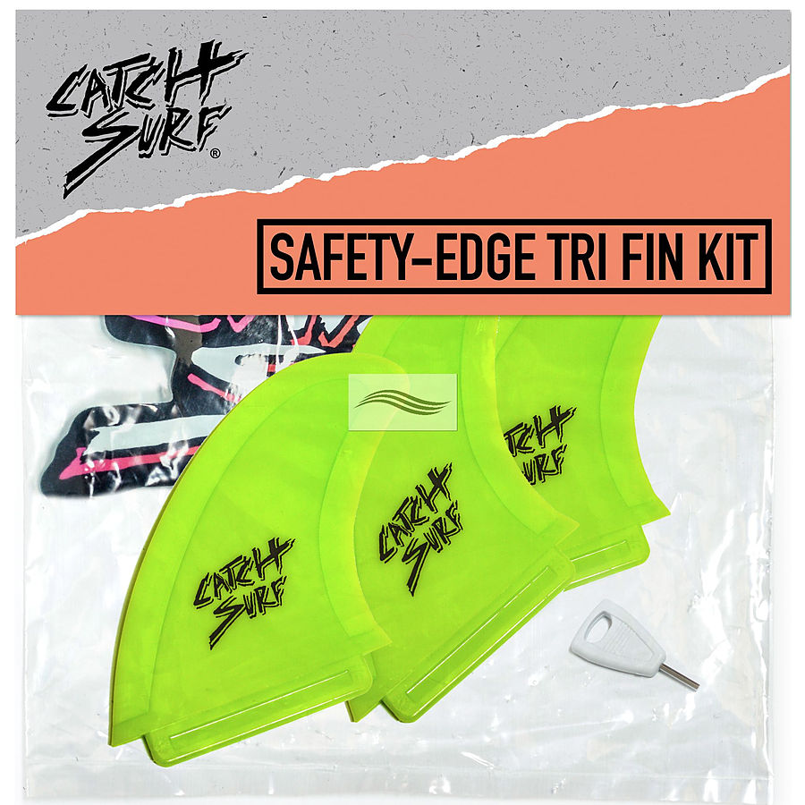 Catch Surf Safety Edge Lime Tri Fin Kit