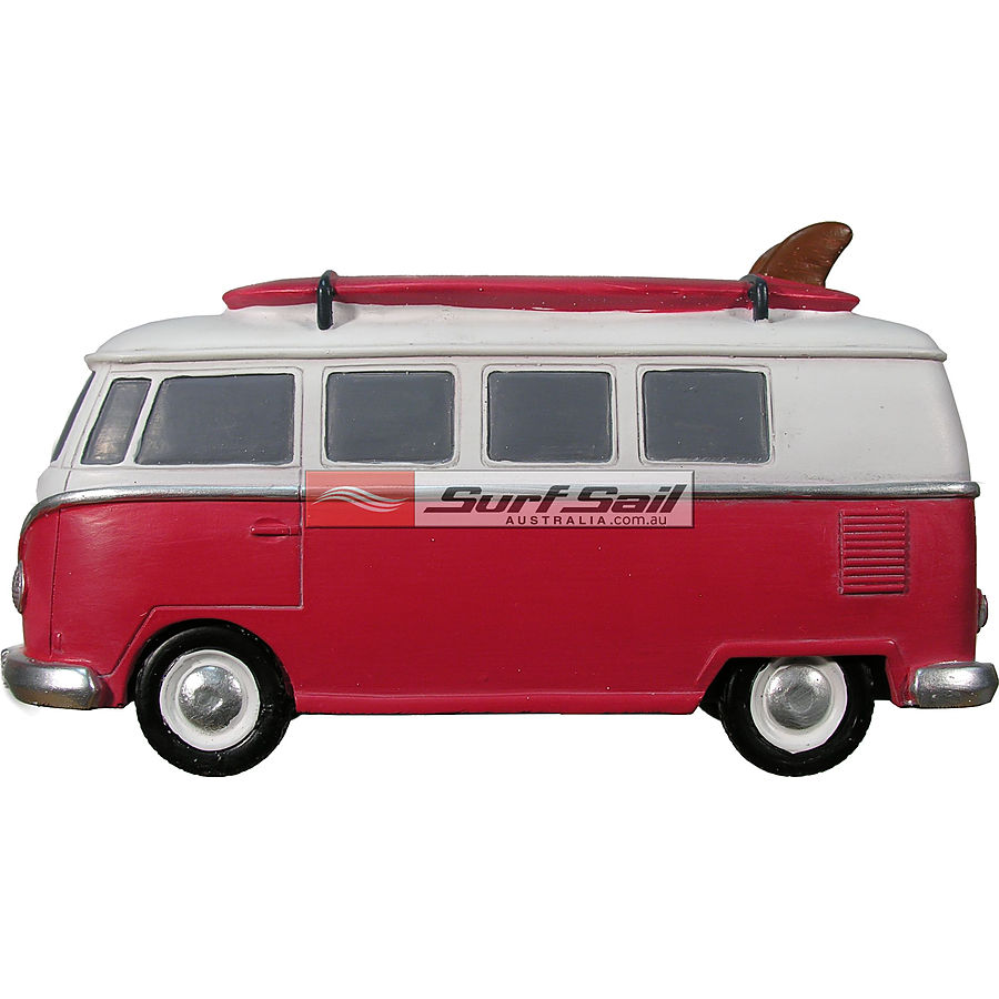 Wanted SupplyCo Kombi Surf Bus Money Box Red