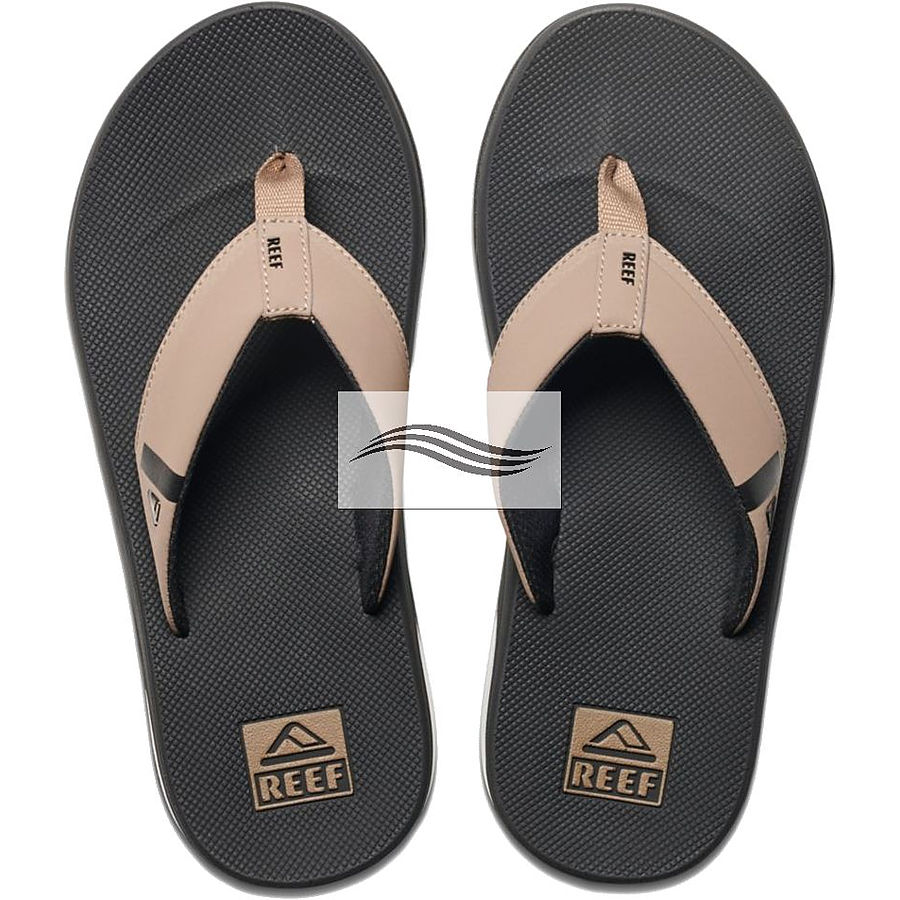 for whole family various styles factory outlets Reef Fanning Low Mens Black Tan Thongs