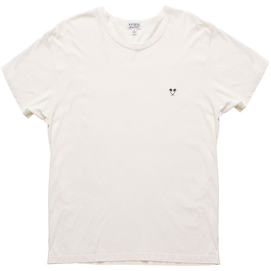 Catch Surf Mens Heritage Top Shelf SS Tee Glacier White