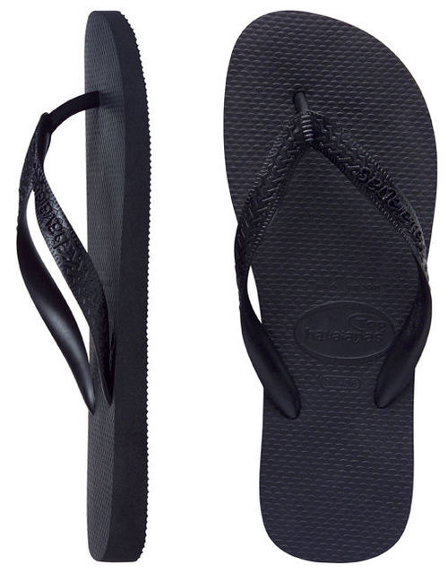 picked up hot product wide range Havaianas Mens Top Black Thongs