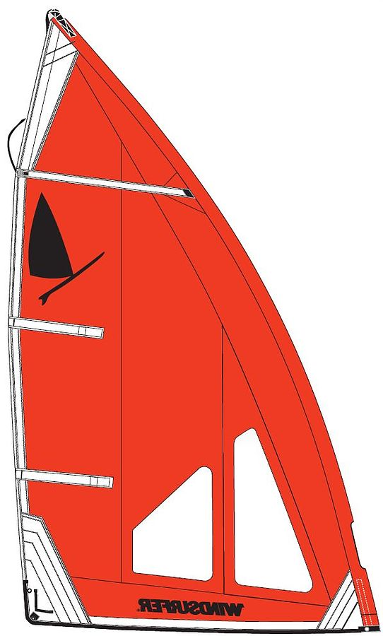 Windsurfer LT Regatta 5.7 Sail Red