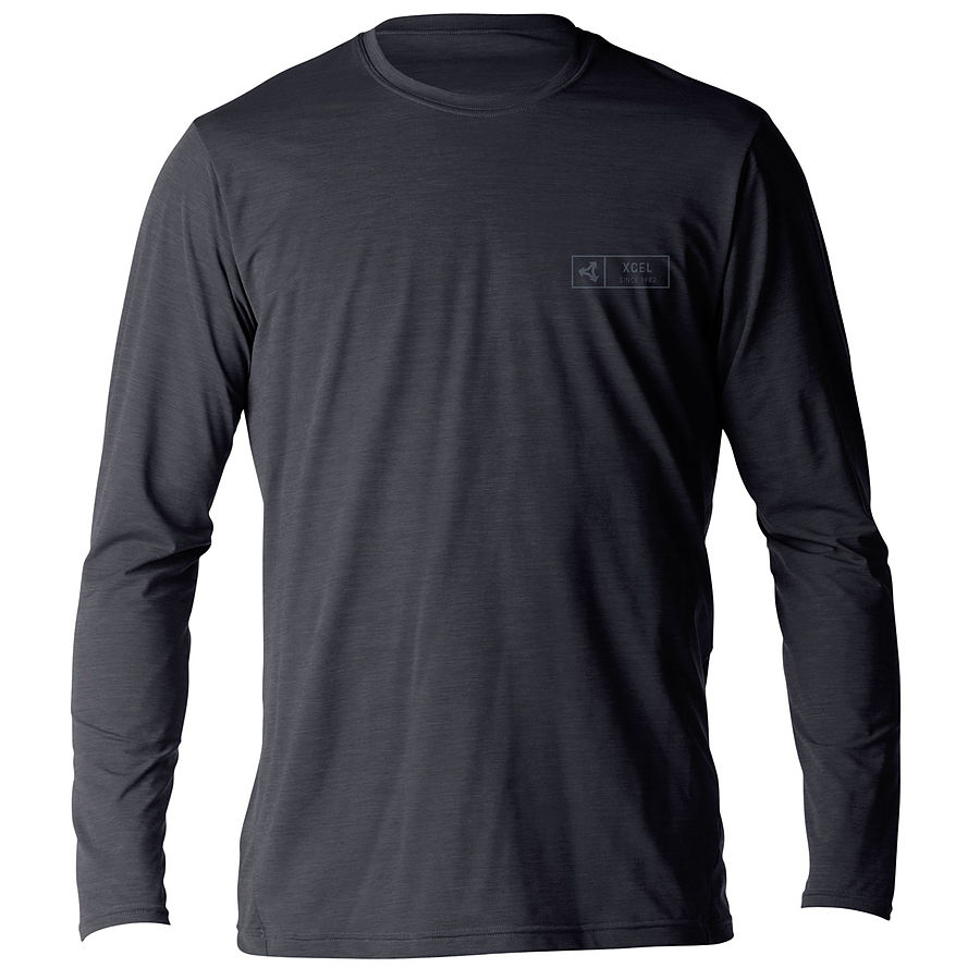 Xcel Men's Pacific VNTX LS Rash Shirt Heather Black