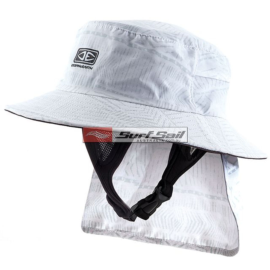 Ocean And Earth Boys Indo Surf Hat White - Image 1