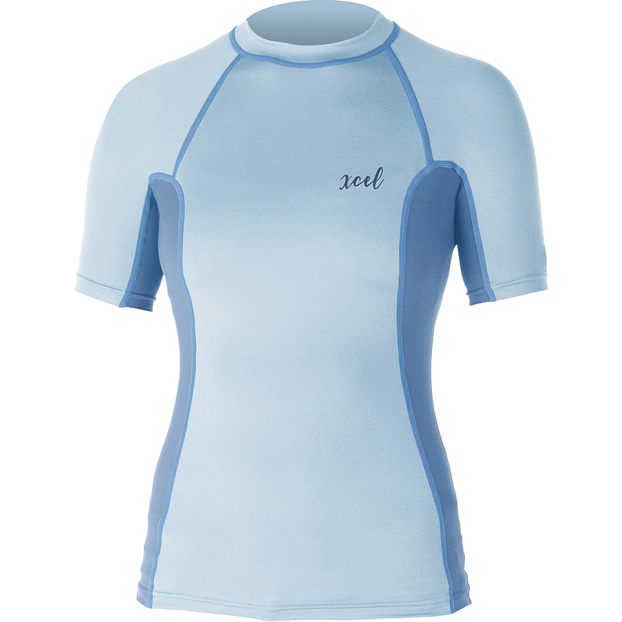 Xcel Ladies Monica SS UV Fitted Rash Vest Candy Blue