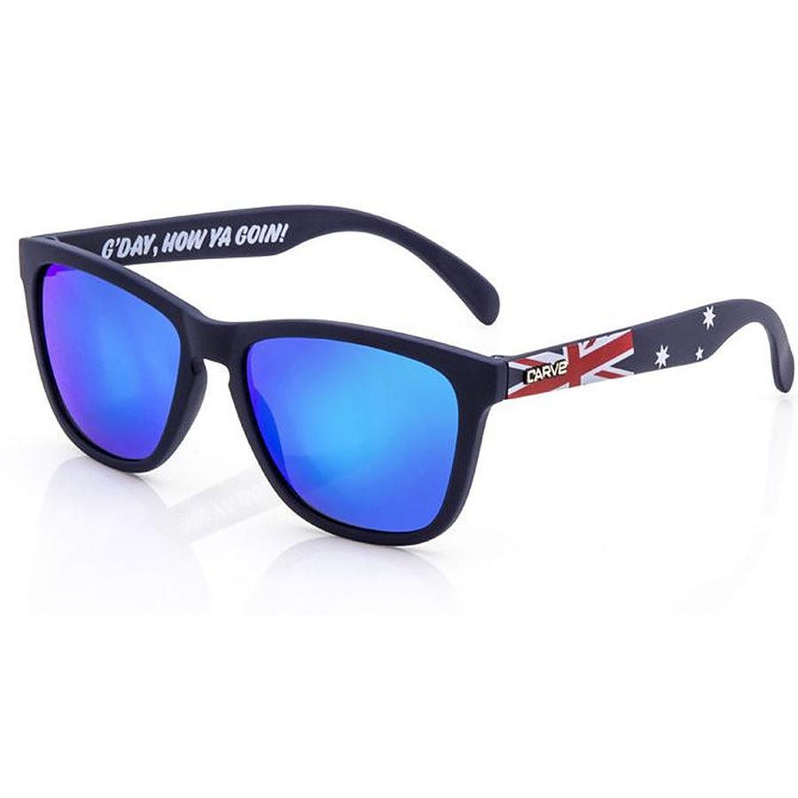 Carve Eyewear Australiana Matt Navy Grey Lens Polarised Sunglasses