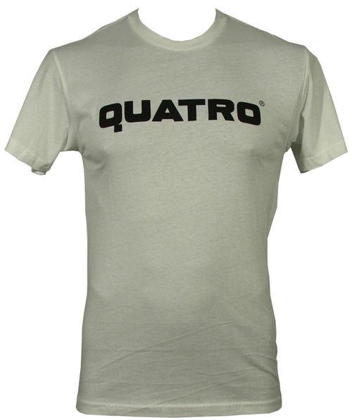 Quatro Emblem White Mens Tee