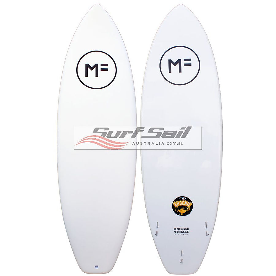 Mick Fanning Softboards Eugenie FCS 2 White Softboard - Image 1