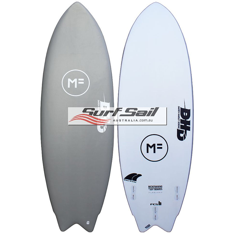 Mick Fanning Softboards DHD The Twin Grey Softboard - Image 1