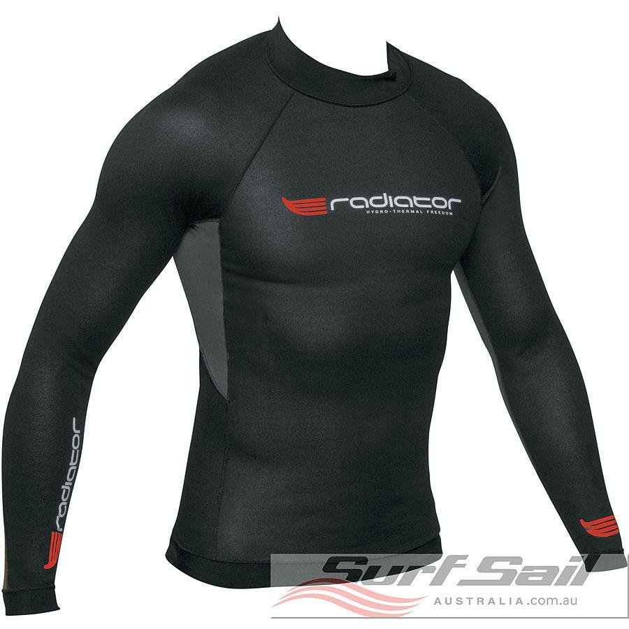Radiator Mens Long Sleeve 0.5mm Vest Black