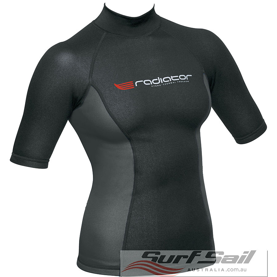 Radiator Ladies Short Sleeve 0.5mm Vest Black