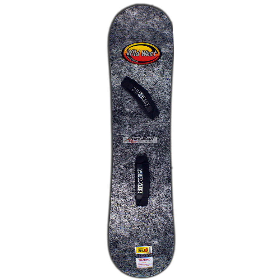 Wild West Sandboard Black Silver Large