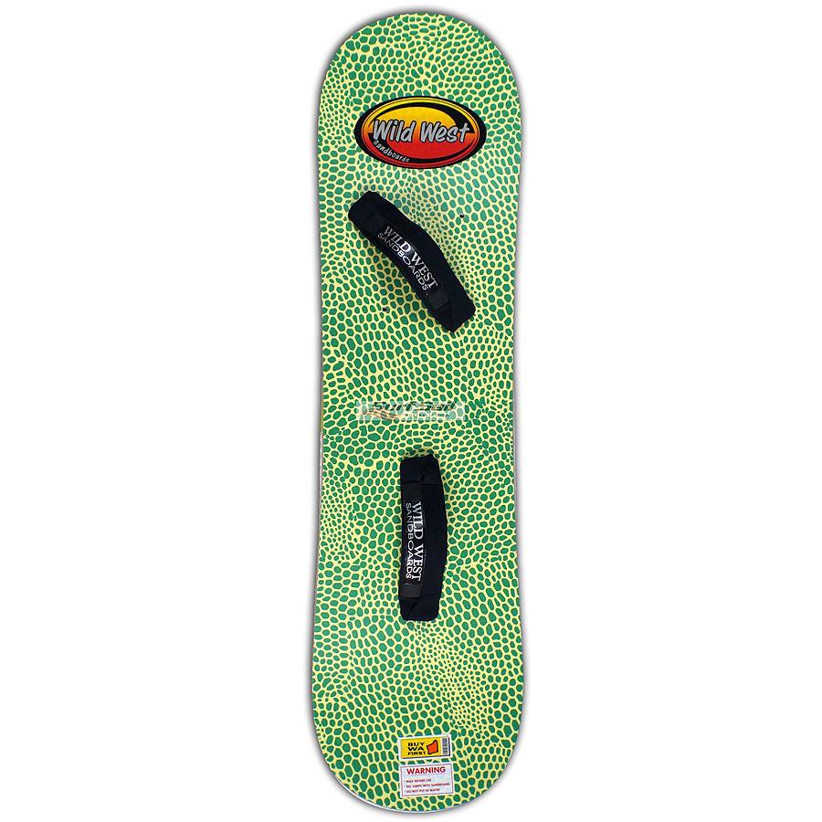 Wild West Sandboard Reptile Yellow Green