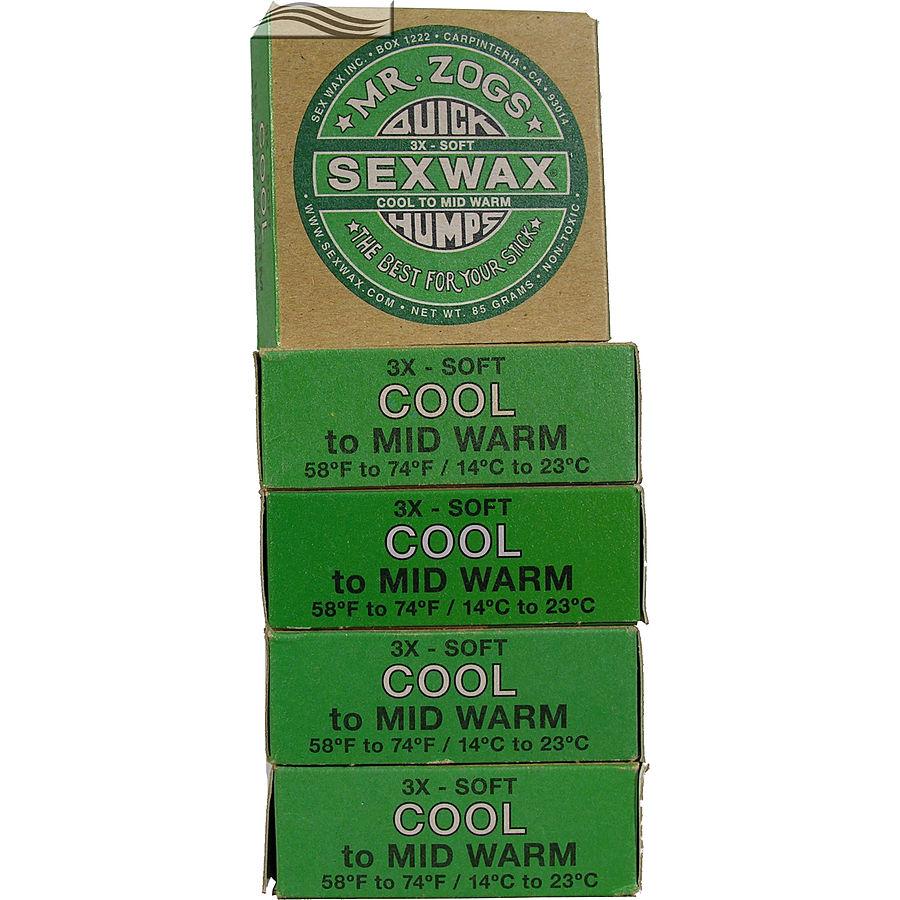 Mr Zogs Sex Wax Original Cold Green 5 pack