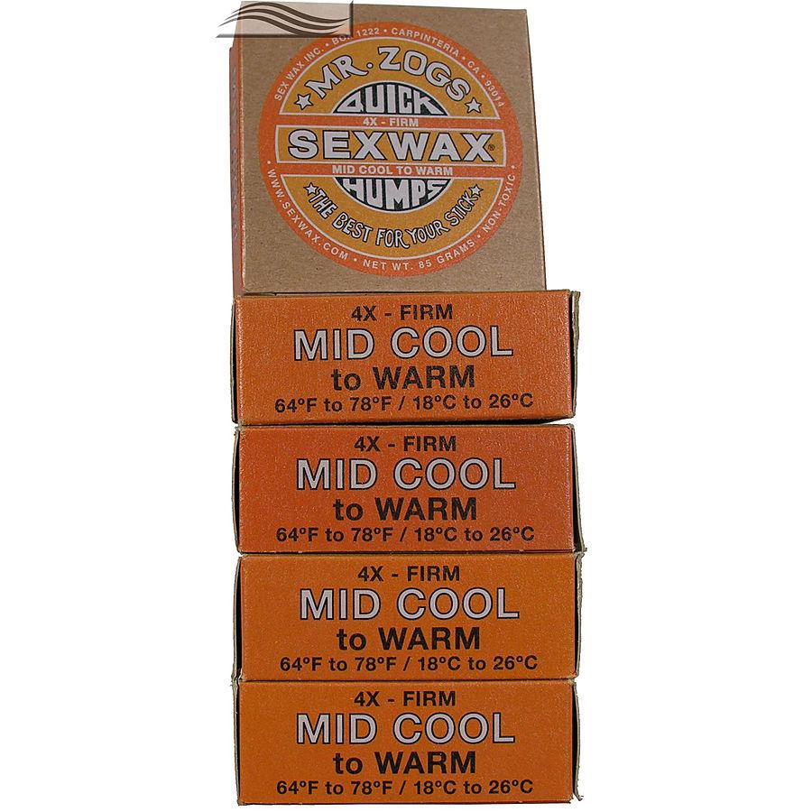 Mr Zogs Sex Wax Original Mid Cool Orange 5 pack