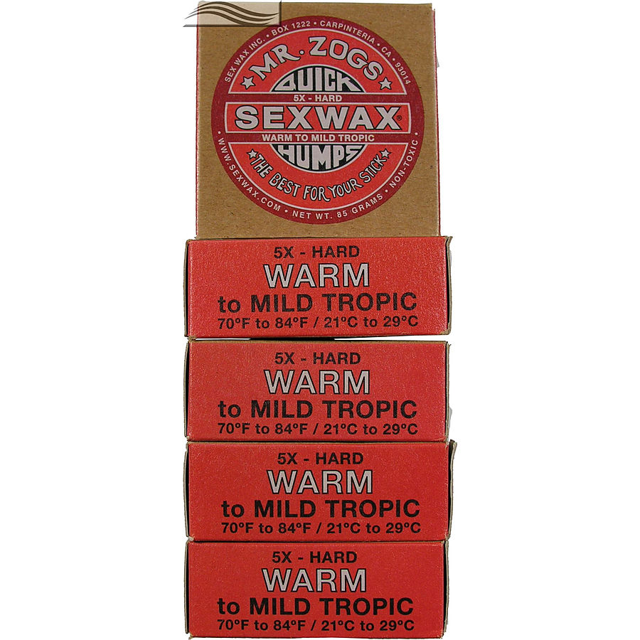 Mr Zogs Sex Wax Original Warm Red 5 pack