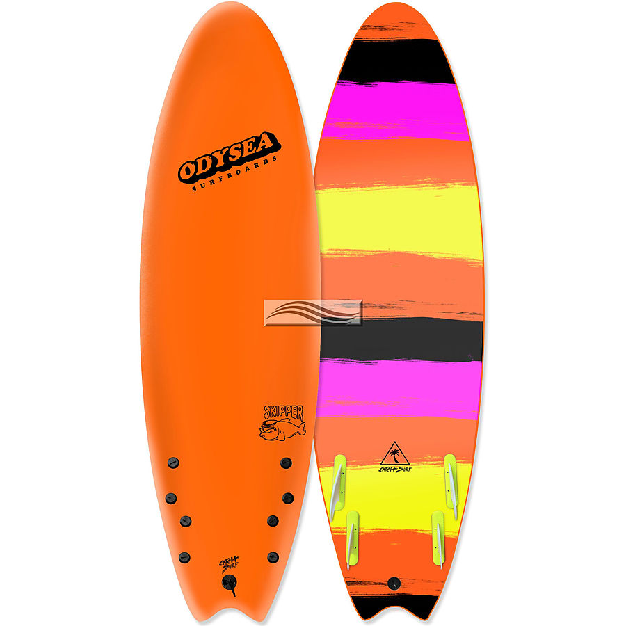 Catch Surf Odysea Skipper 2018 Quad Fin Softboard Orange Stripes