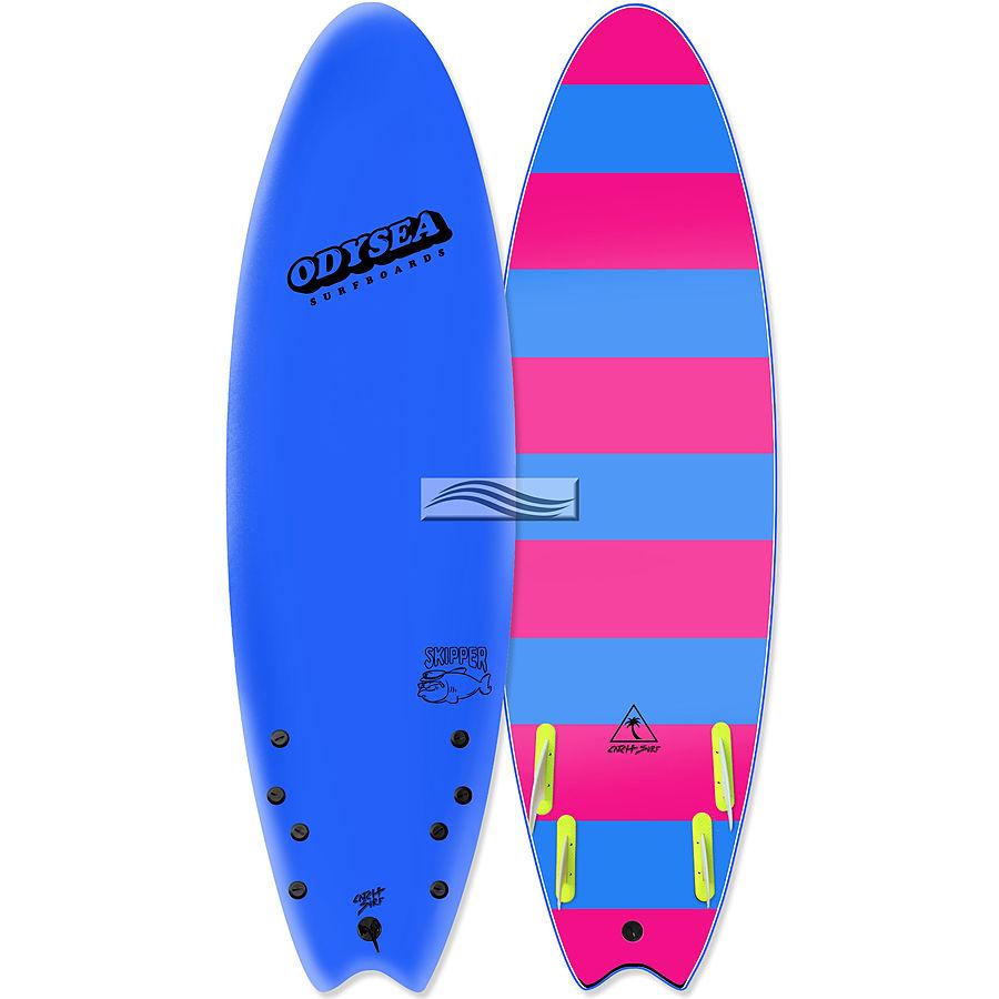 Catch Surf Odysea Skipper 2018 Quad Fin Softboard Blue - Image 1