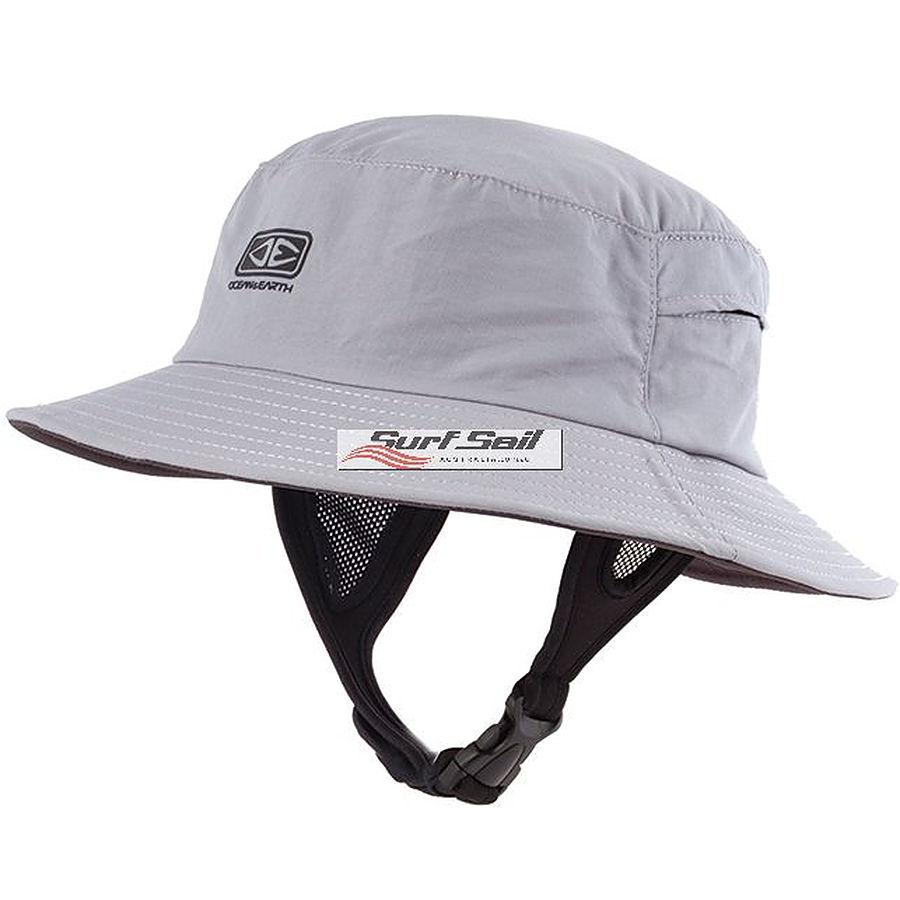 Ocean And Earth Bingin Soft Peak Mens Surf Hat Grey - Image 1
