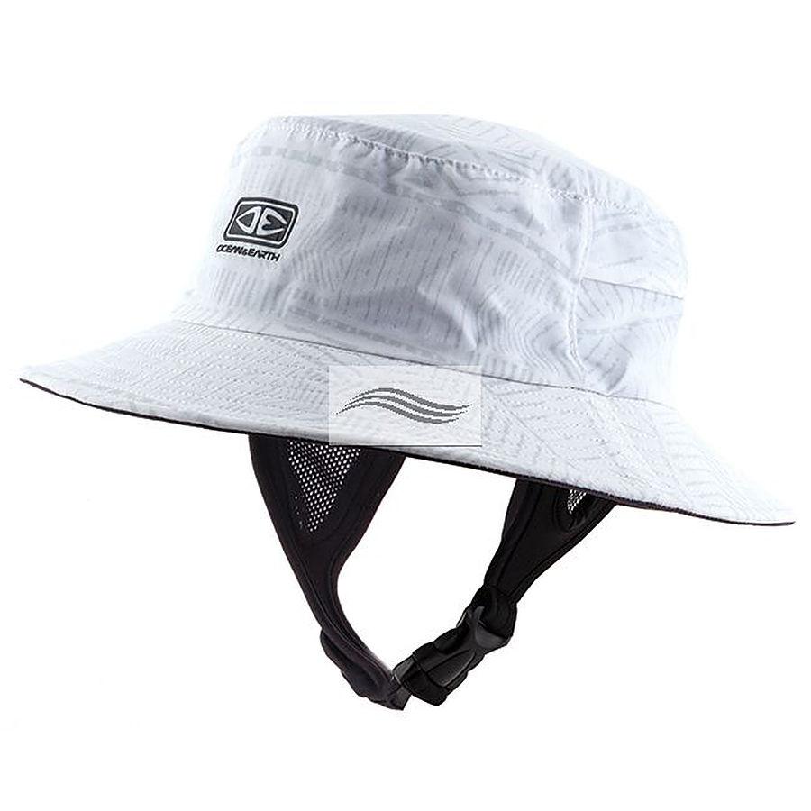 Ocean And Earth Bingin Soft Peak Mens Surf Hat White - Image 1
