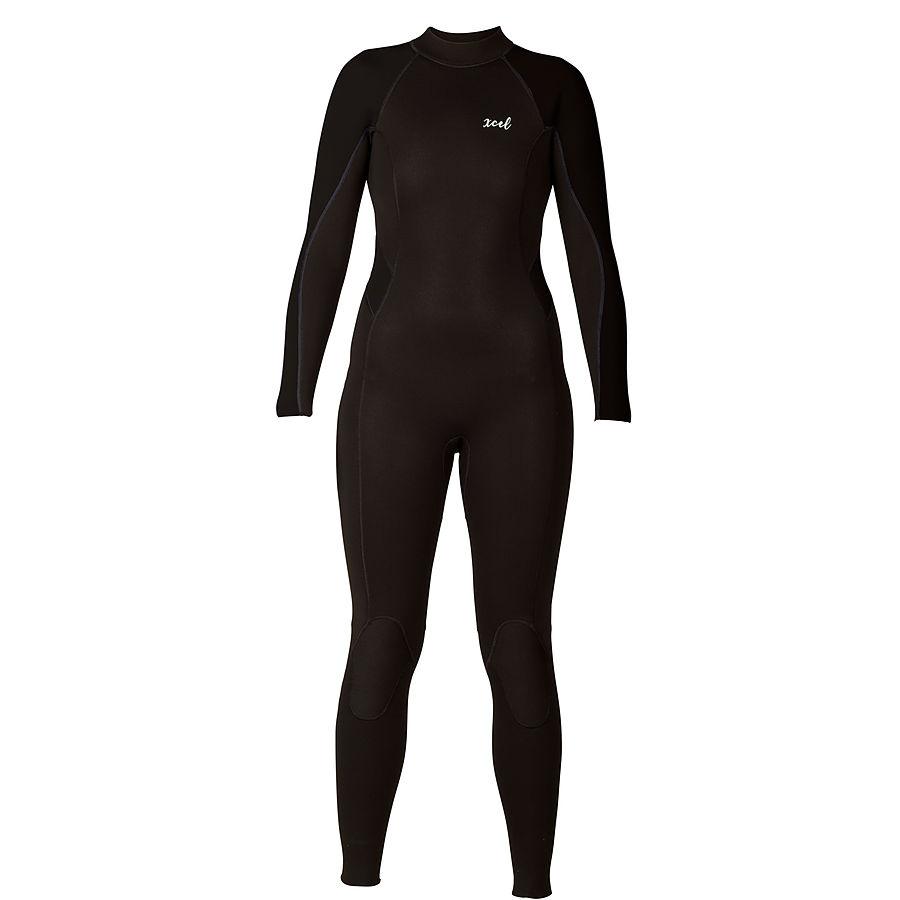 Xcel 3mm 2mm Ladies GSC Fullsuit Black