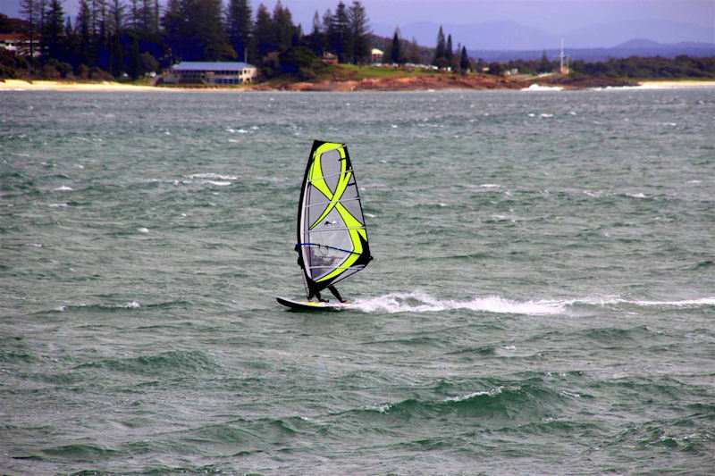 Photograph of Gusty fluky westerly at south west rocks