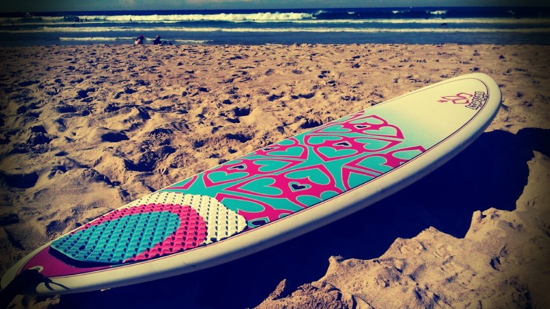 Photograph of Alexandra's new board Freshwater NSW
