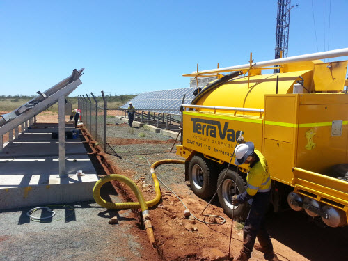 Trenching Earth Cabling Remote Mine Site