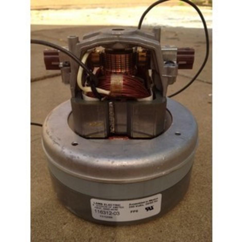 2 stage flow thru ametek 850 watt vacuum motor 240 volt for 2 stage vacuum motor