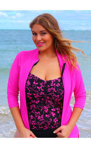Plus Size Swimwear Rash Shirt