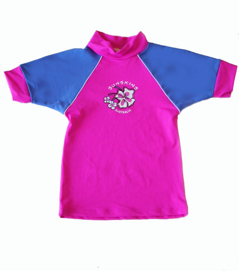 Short sleeve girls rash shirt pink and lilac for What is a rash shirt