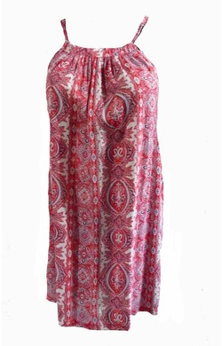 Sun Dress - Red Paisley