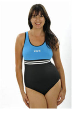 Viva One Piece - Black with Teal Bodice