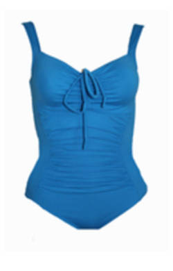 One Piece with Gathers Chlorine Resist Blue
