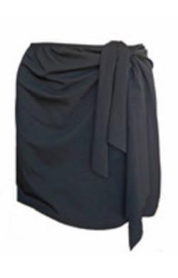 Wrap Swim Skirt - Black Chlorine Resistant